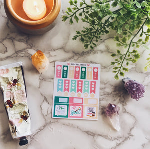 Goal Digger Hobonichi Weeks Mini Kit Planner Stickers
