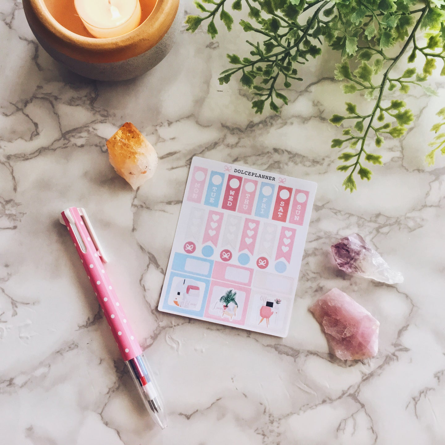 Scandinavian home Hobonichi Weeks Mini Kit Planner Stickers