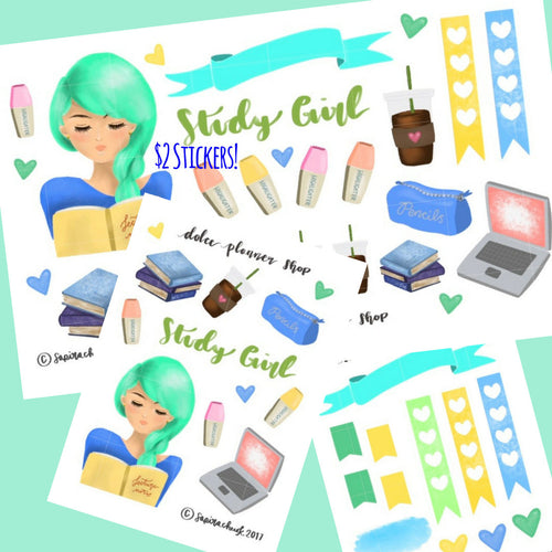 Study Girl Planner Sticker
