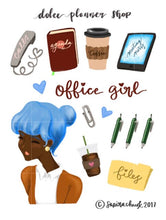 Office Girl Planner Sticker