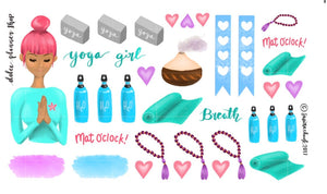 Yoga Girl Planner Sticker