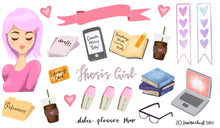 Thesis Girl Planner Sticker