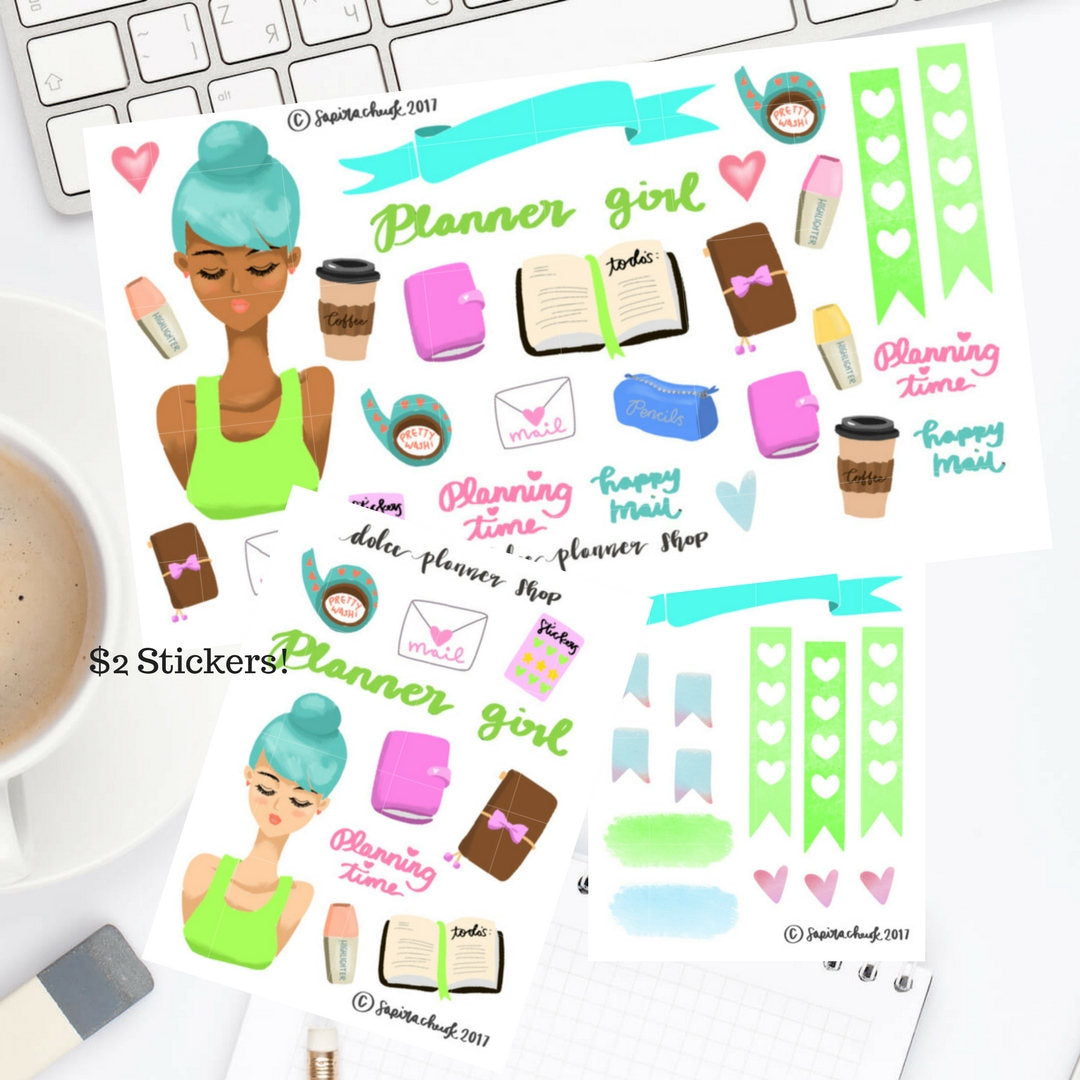 Planner Girl Sticker