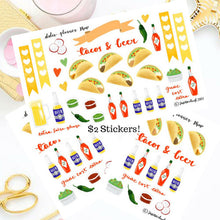 Tacos and Beer Planner Sticker