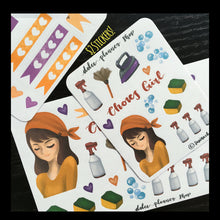 Chores Girl Planner Sticker