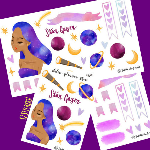 Star Gazer Planner Sticker