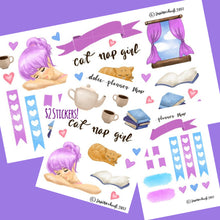 Cat Nap Girl Planner Sticker