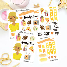 Family Time Girl Sticker
