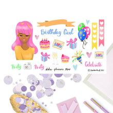 Birthday Party Girl Sticker