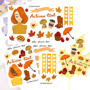 Autumn Girl Sticker