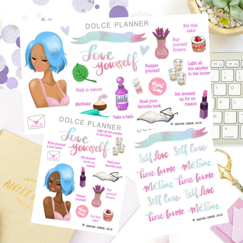 Self Love Girl stickers