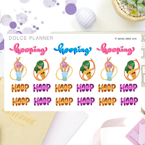 Hula Hoop Hooping Girl Planner Sticker