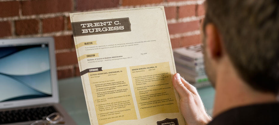 resume template detail image one - alamo tan