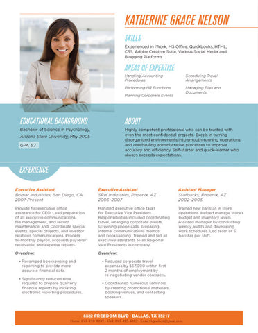 Resumes With Photos   Loft Resumes