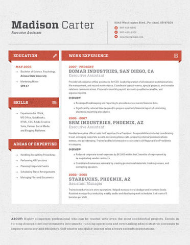 document - Contemporary Resume