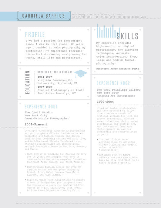 in or buy at collectionsloft resumesproductsrivet deck resume template blue save document