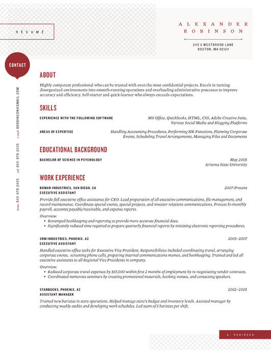 in or buy at collectionsloft resumesproductsshearling point resume template red - Loft Resumes Free