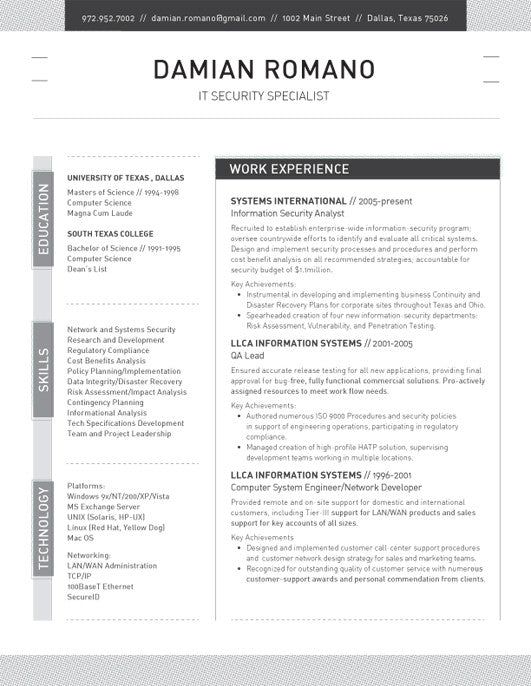 Resume Template Structured Black Loft Resumes