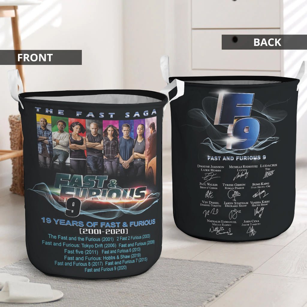 Fast Furious 9 Movie Collapsible Laundry Basket Fast Furious 9 Decorative Laundry Hamper Home Laundry Items