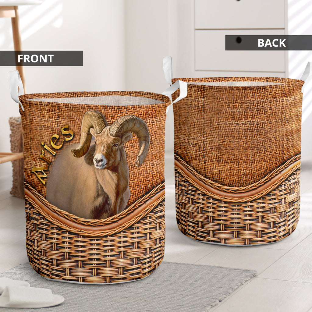 Aries Collapsible Laundry Basket Aries Decorative Laundry Hamper Home Laundry Items