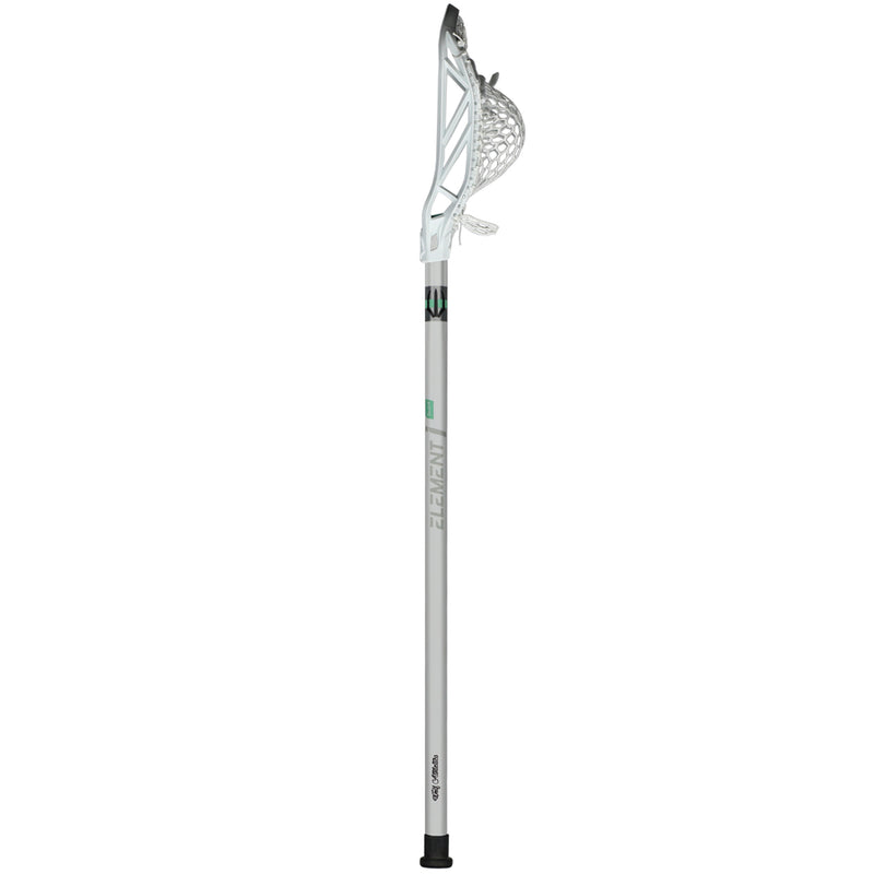 "Element i-Series Lacrosse Shaft - full 30"" vertical view with Rekon Head Strung"