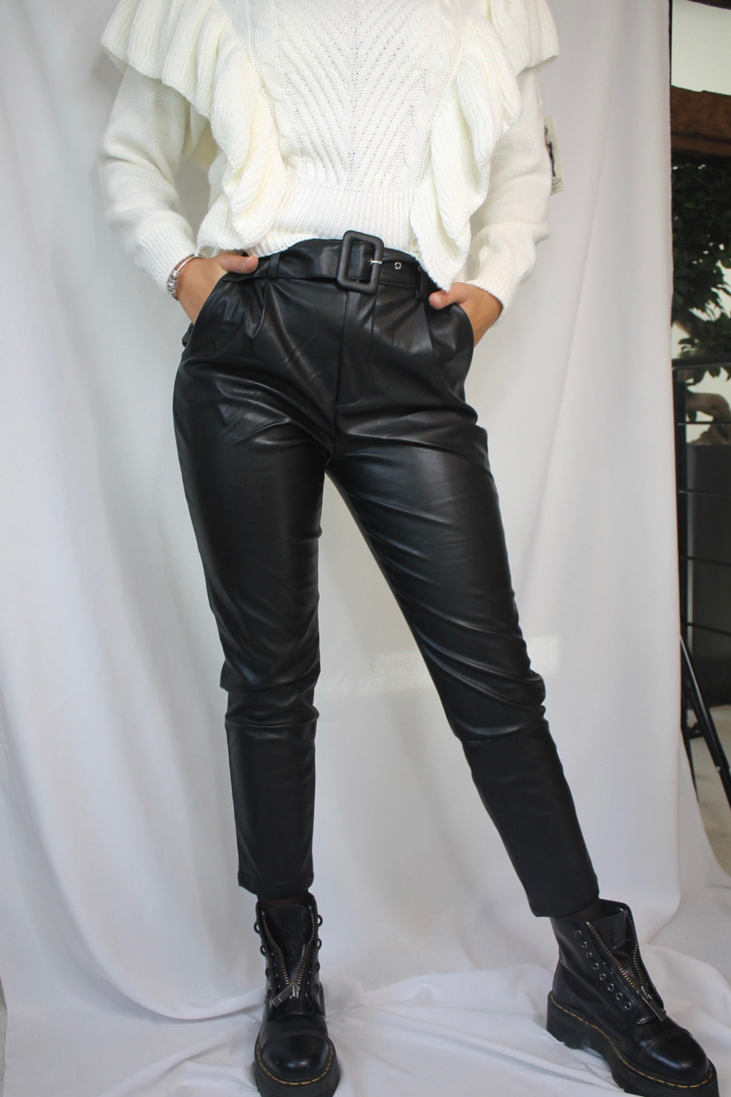 Pantalon en similicuir - Queen of Rock