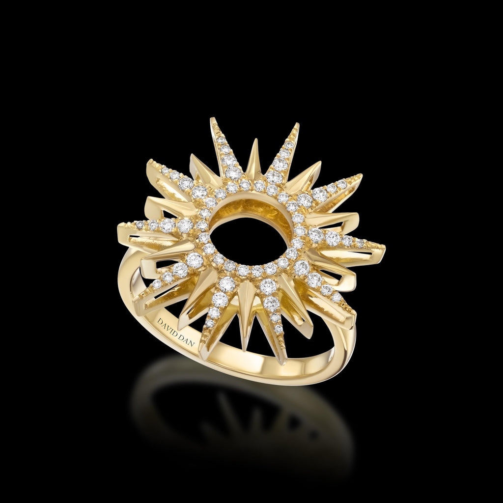 RAYS 18K Yellow Gold Diamond Ring
