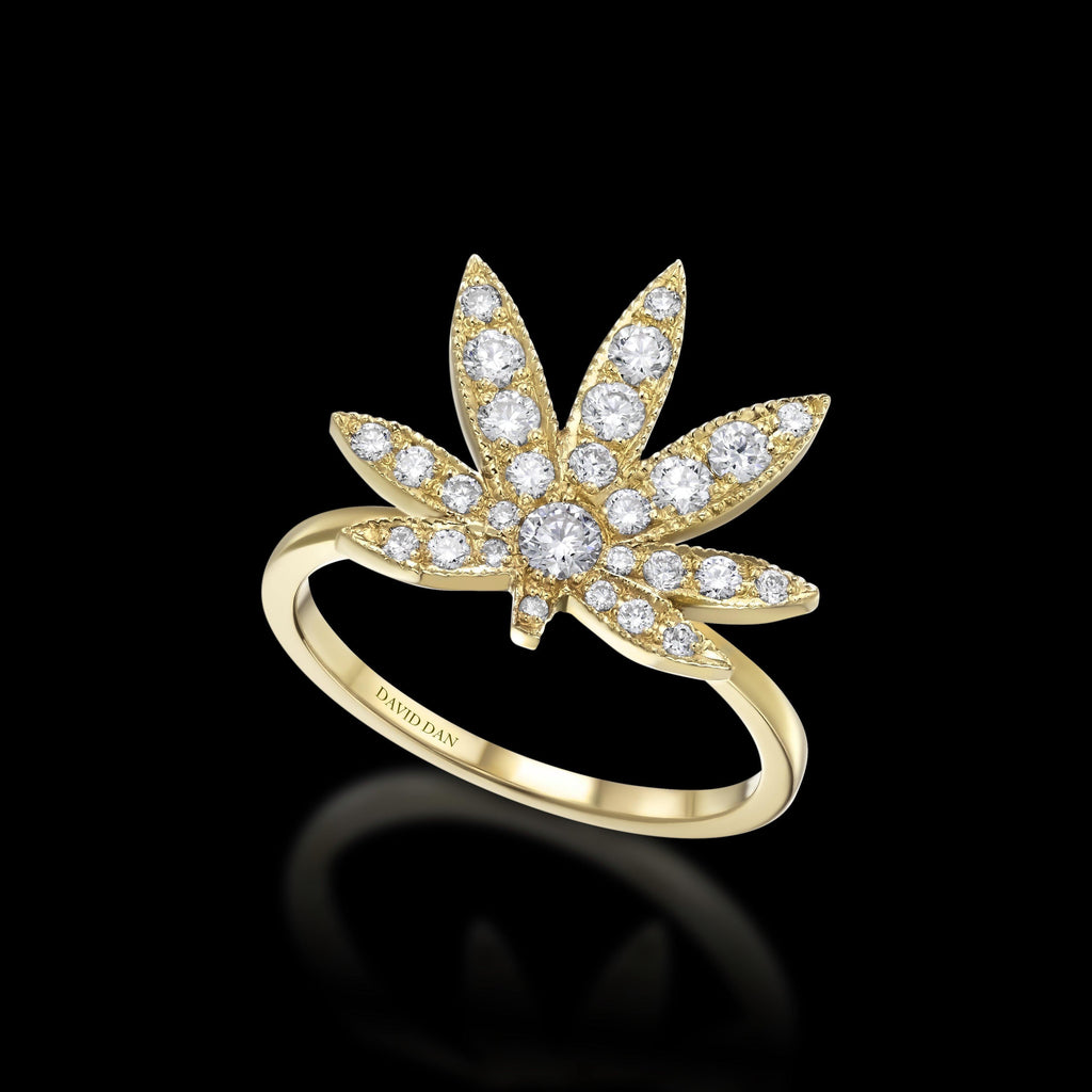 BLAZE 18K Yellow Gold Diamond Ring
