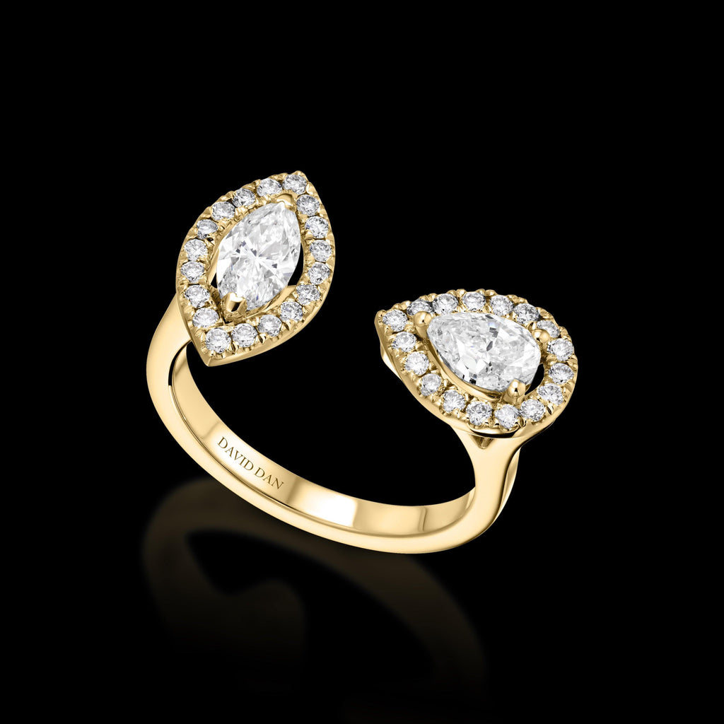 HOLLYWOOD 18K Yellow Gold Duo Diamond Ring