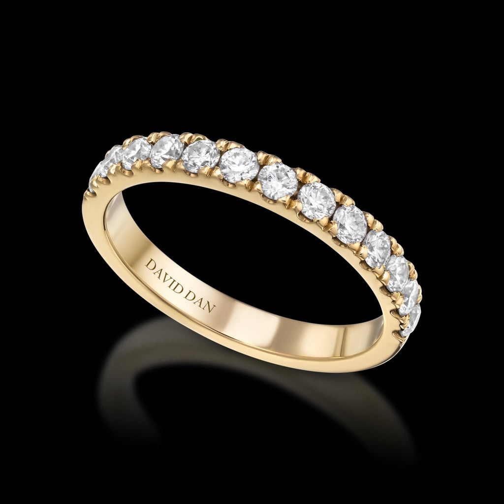 BOULEVARD 18K Yellow Gold Half Eternity Diamond Band