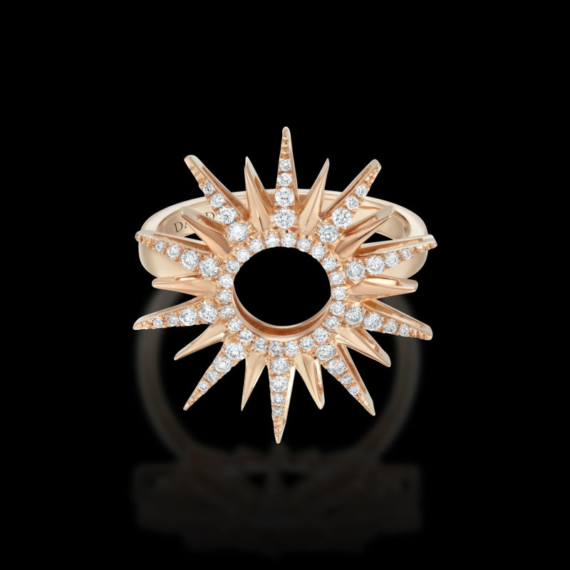 RAYS 18K Rose Gold Diamond Ring