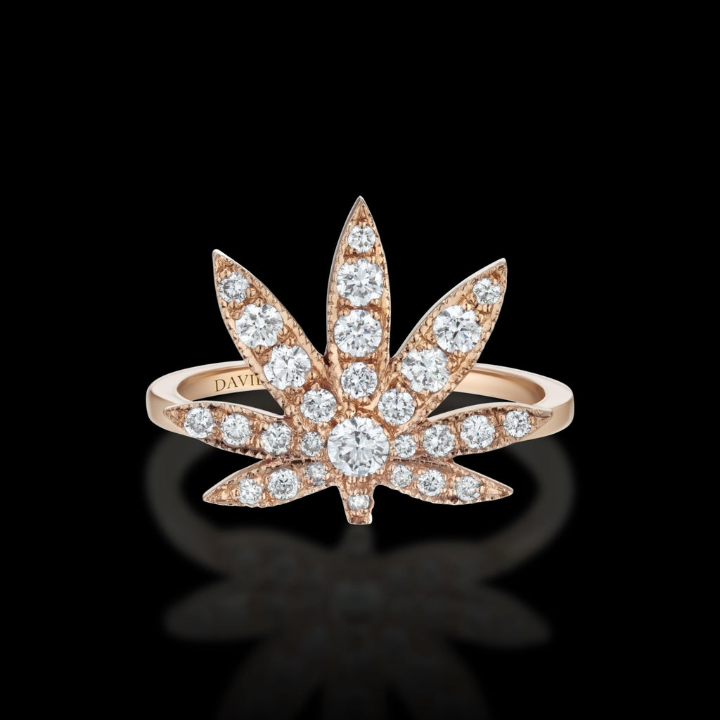 BLAZE 18K Rose Gold Diamond Ring