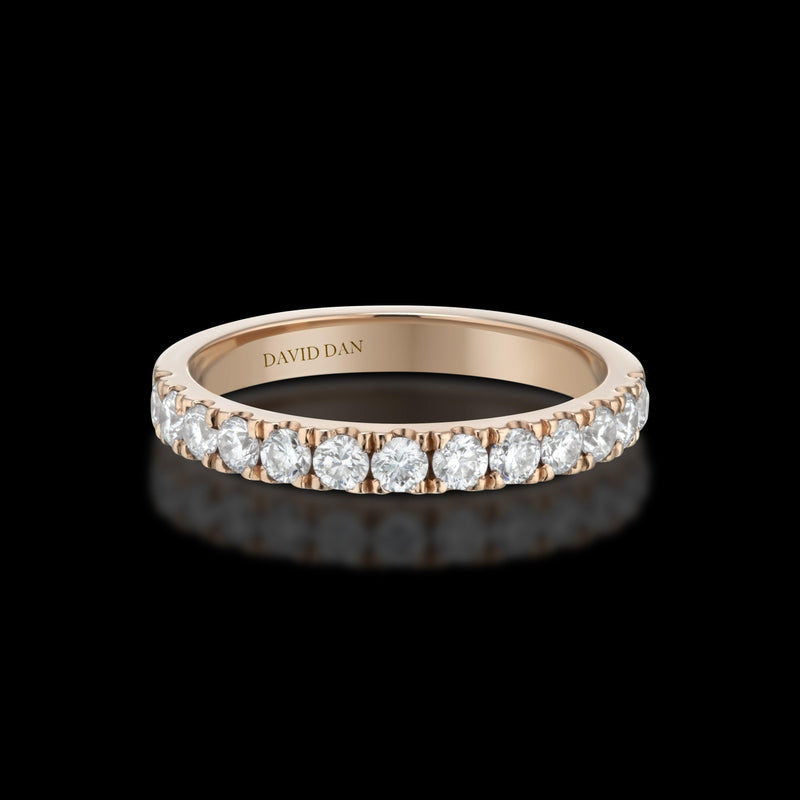 BOULEVARD 18K Rose Gold Half Eternity Diamond Band