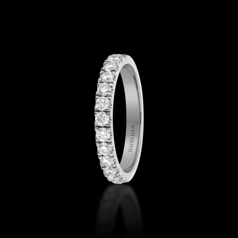 BOULEVARD 18K White Gold Half Eternity Diamond Band