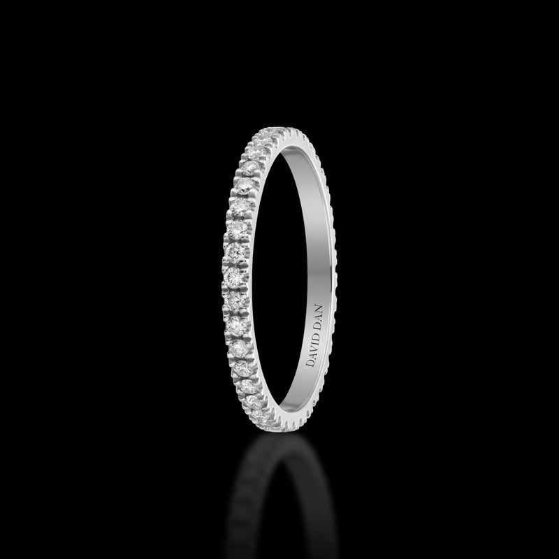 SUNSET 18K White Gold Full Eternity Diamond Band