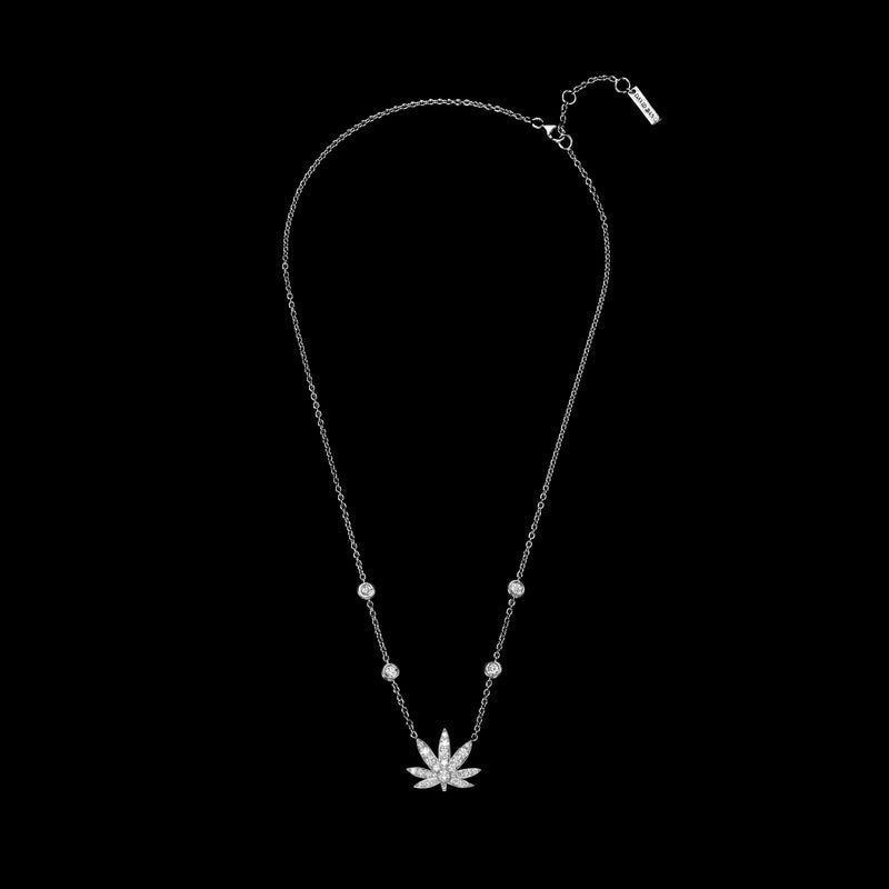 BLAZE 18K White Gold Diamond Necklace