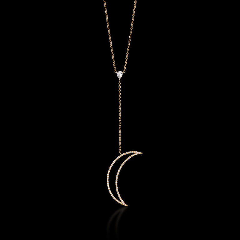 LUMINOUS 18K Rose Gold Diamond Necklace