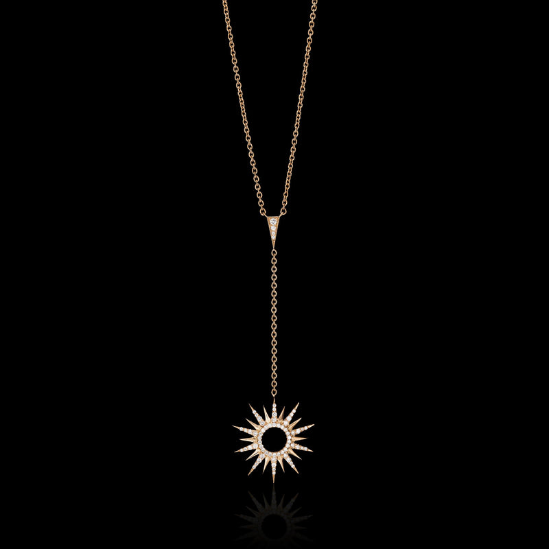RAYS 18K Rose Gold Diamond Necklace