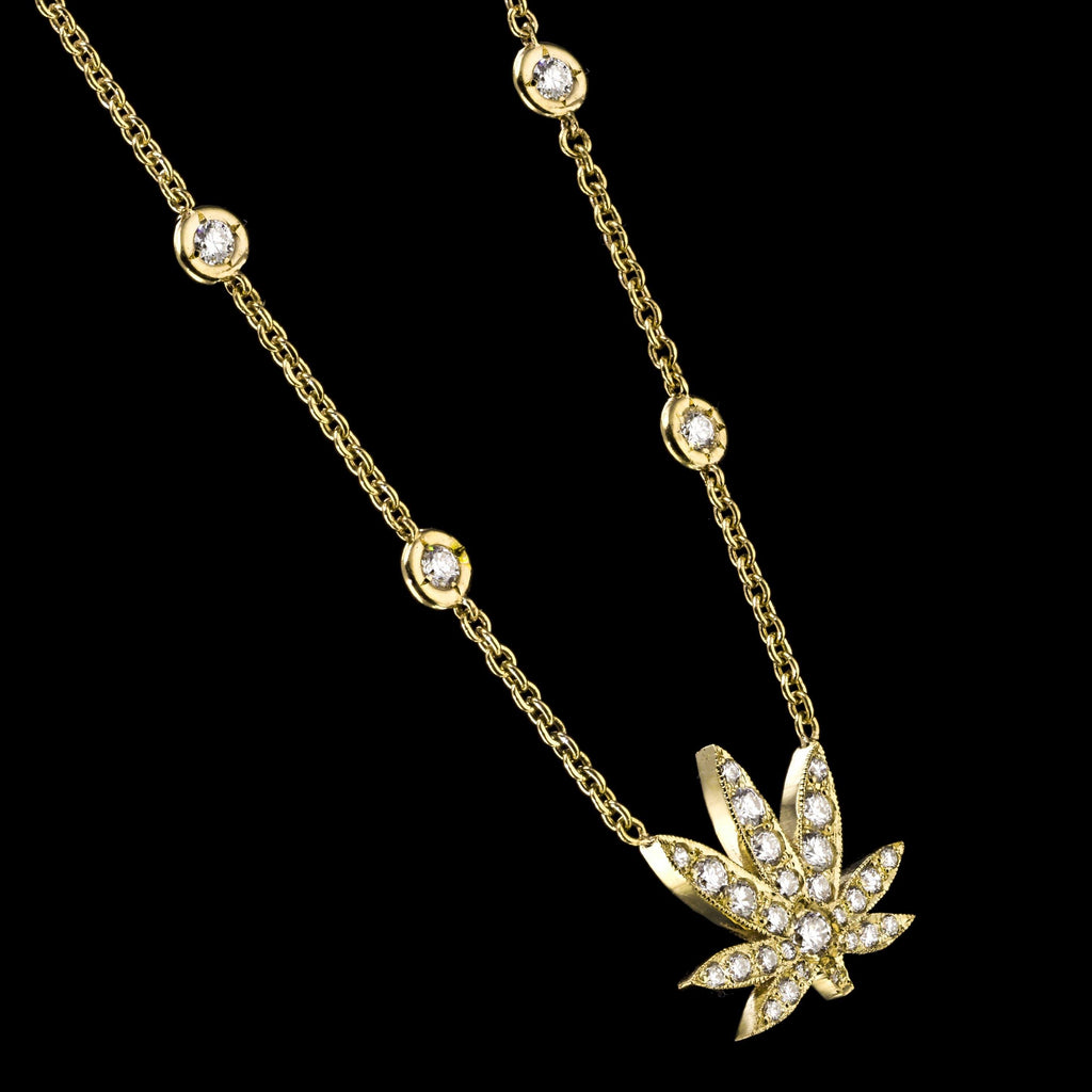 BLAZE 18K Yellow Gold Diamond Necklace