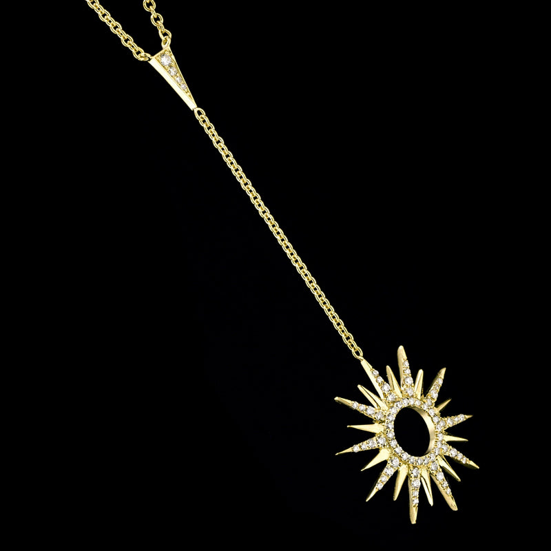 RAYS 18K Yellow Gold Diamond Necklace
