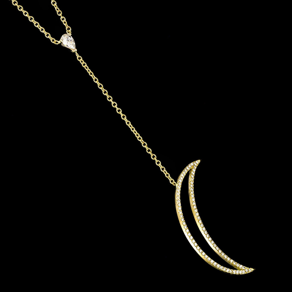 LUMINOUS 18K Yellow Gold Diamond Necklace