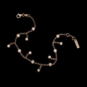 TOPANGA 18K Rose Gold Falling Diamond Bracelet