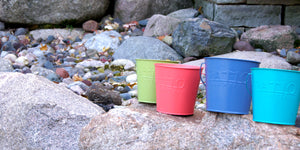 New pantone colors for our citronella bucket candles!