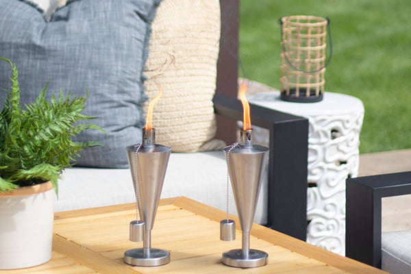 Cone Stainless Steel Tabletop Torch | Patio Essentials