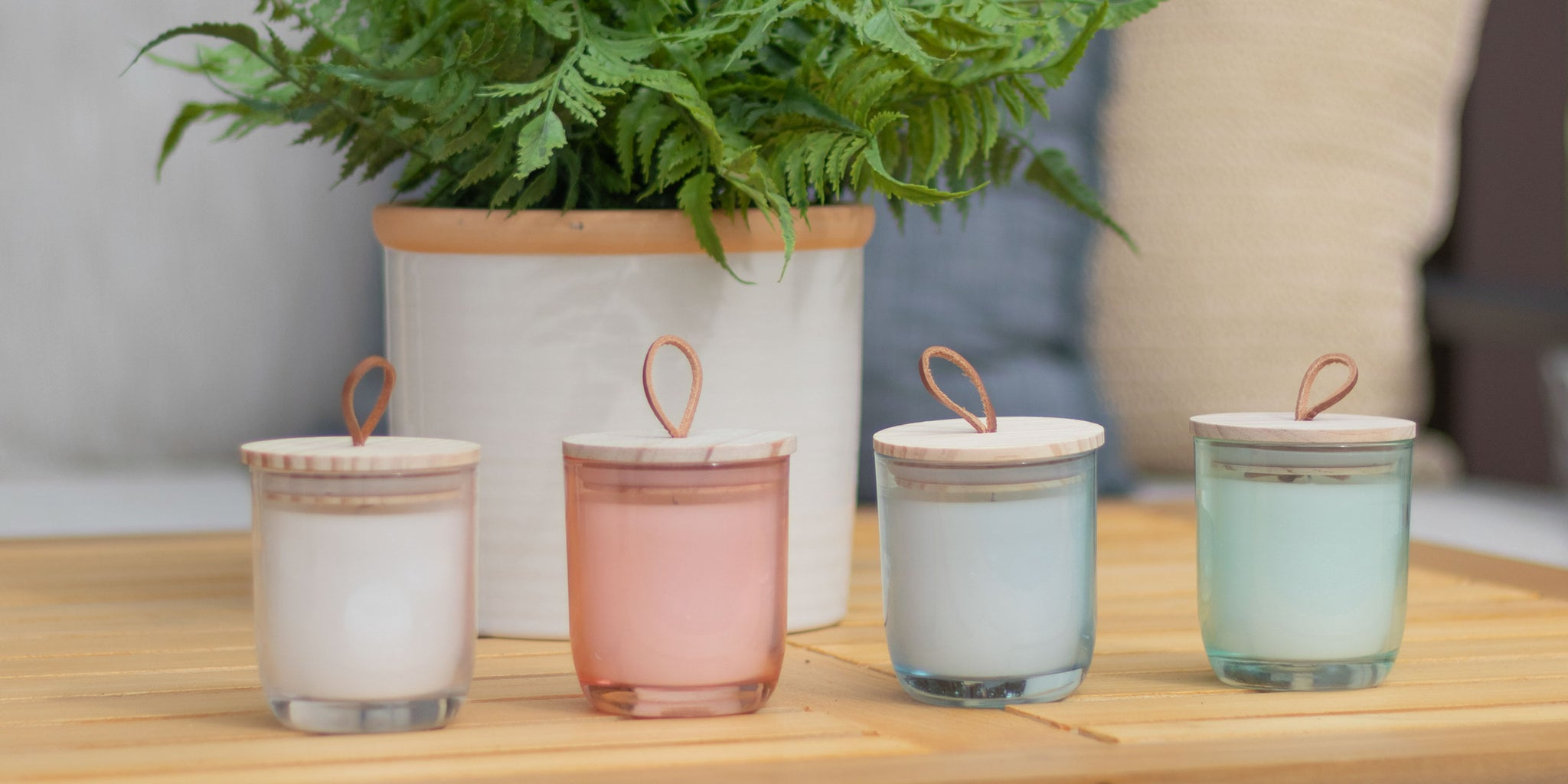 5 Galentine's Day Gift Ideas for 2021 (For Galentine's Near or Far) Citronella & Lemongrass Tinted Glass Candles | Patio Essentials