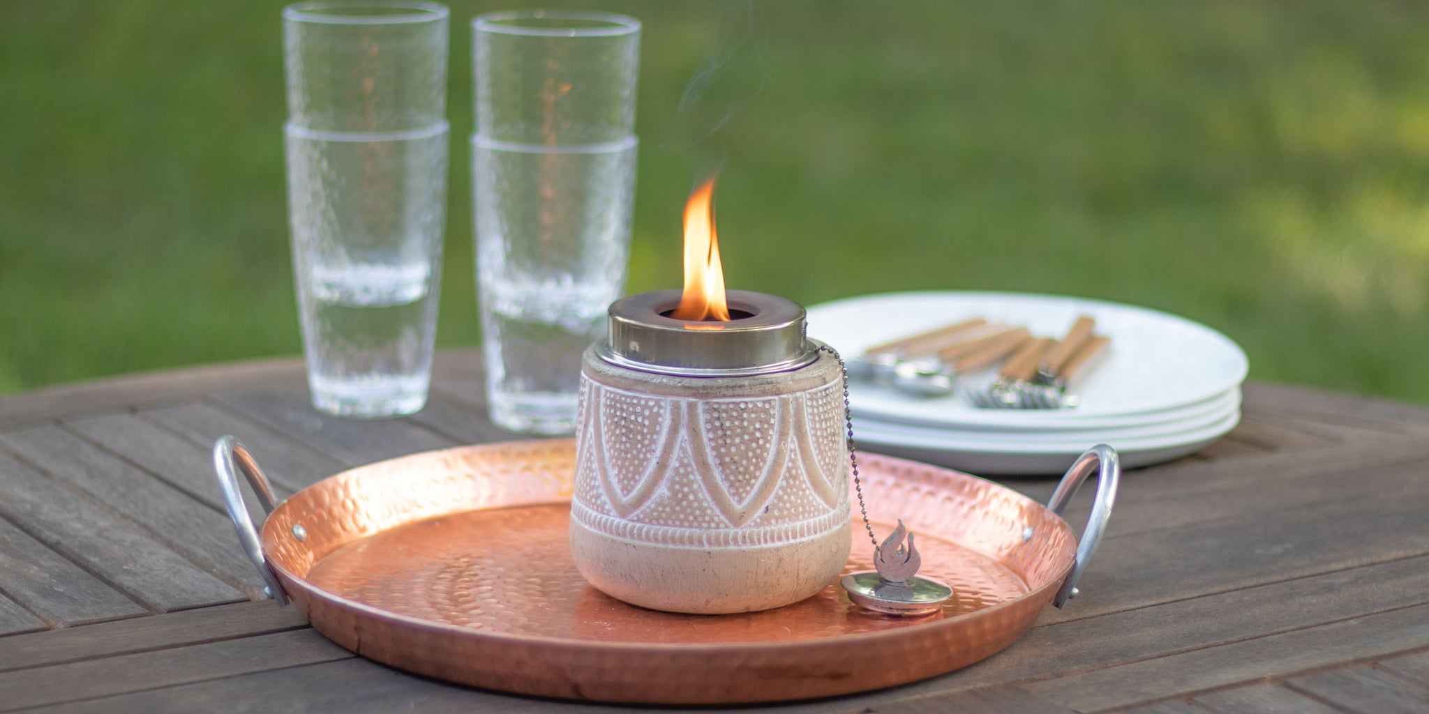 How to Light & Fill Your Tabletop Torch | Patio Essentials