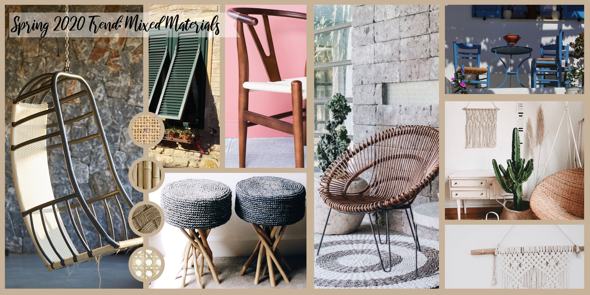 Spring 2020 Decor Trends: Mixed Materials