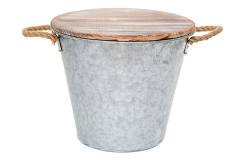 80 oz. Galvanized Metal Bucket Citronella Candle | Patio Essentials
