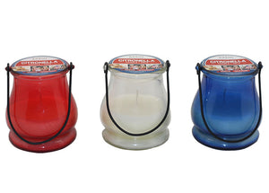 5 oz. Red, White & Blue Lantern Citronella Candles, 6 pack | Patio Essentials