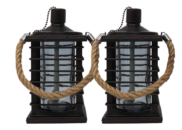 Caged Tabletop Torch, 2 pack | Patio Essentials